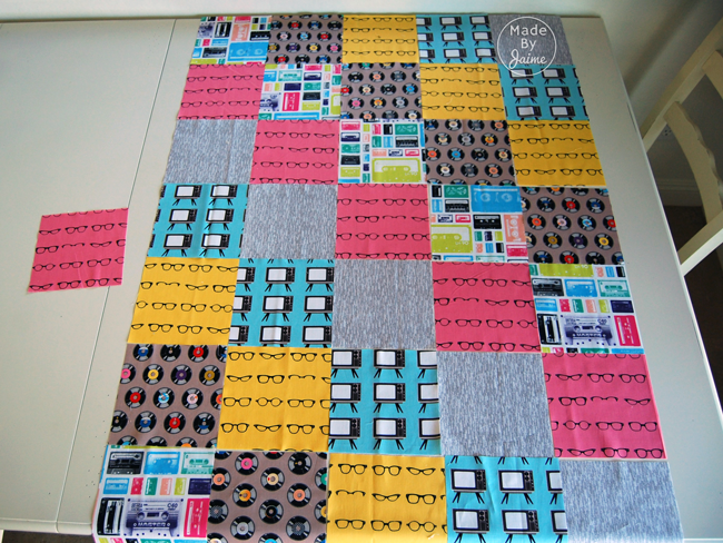 FREE Beginner's Quilt Pattern by MadeByJaime   Gracious Threads Baby Shower