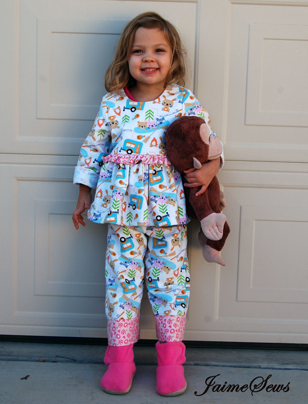 Ruffled PJs Pattern by Once Upon A Sewing Machine | JaimeSews