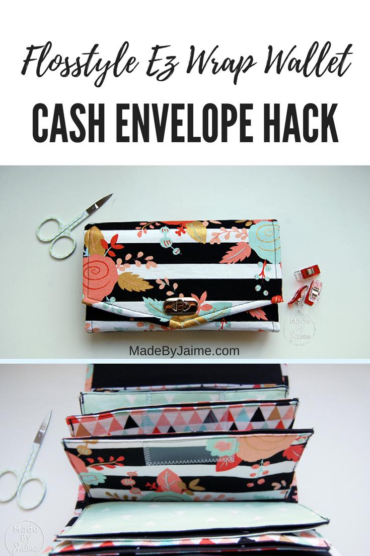 Flosstyle EZ Wrap Cash Envelope Wallet Hack | MadeByJaime