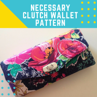 Necessary Clutch Wallet Pattern by Emmaline Bags | MadeByJaime.com